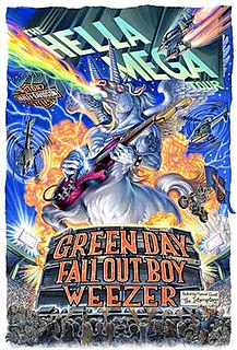 Hella Mega Tour Tour by American rock bands, Green Day, Fall Out Boy, and Weezer