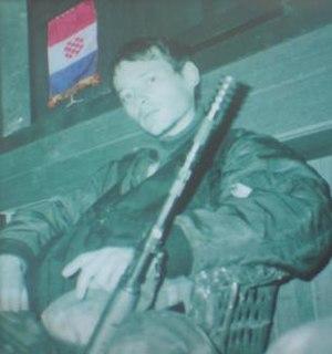 Jean-Michel Nicolier French-born Croatian soldier