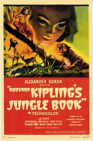 Jungle Book (1942 film) - Image: Jungle Book Film Poster