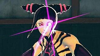 Juri (Street Fighter) - Juri using her Feng Shui Engine technique.