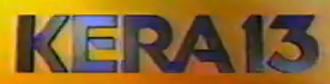 """KERA-TV - Former KERA logo, used from 1987 to 2000; the """"13"""" in the logo has also been used by WTVT/Tampa and WHBQ-TV/Memphis."""