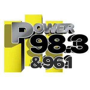 KKFR - Image: KKFR Power 98.3 & 96.1 logo