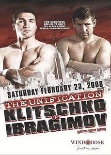 Wladimir Klitschko vs. Sultan Ibragimov Boxing competition