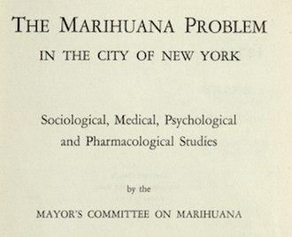 La Guardia Committee - Image: La Guardia Report on the Marihuana Problem