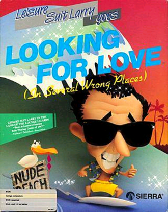 Leisure Suit Larry Goes Looking for Love (in Several Wrong Places) - Amiga cover art for Leisure Suit Larry Goes Looking for Love (in Several Wrong Places)