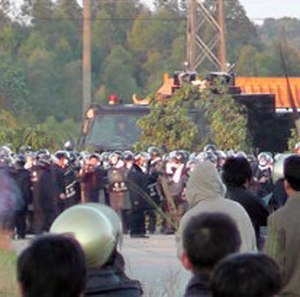 Wukan protests - Image: Lufeng attack 4 305