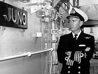 HMS Juno (F52) - Image: Lygo as captain of HMS Juno 1968