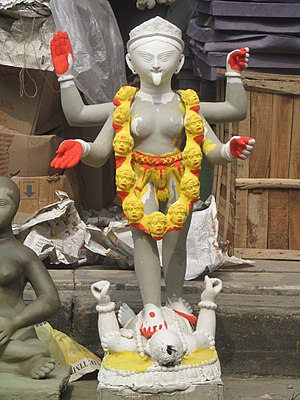 Kumortuli - Half finished Goddess Kali idol