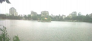 Thane - View of Masunda Lake (Talav Pali) from St.John The Baptist High School.