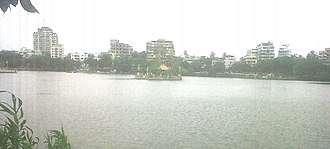 Thane - View of Masunda Lake (Talav Pali) from St.John The Baptist High School