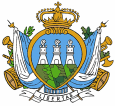 Military Coat of Arms of the Republic of San Marino