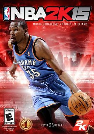 NBA 2K15 - Cover art featuring Kevin Durant