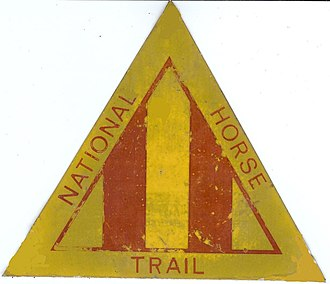 Bridle path - Marker for the National Horse Trail in Australia.