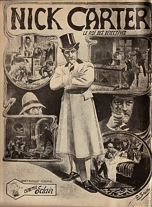 Mystery film - Nick Carter, from France, is one of the first mystery-detective film series (1908–1909).