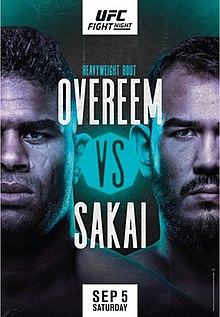 UFC Fight Night: Overeem vs. Sakai Fight Poster