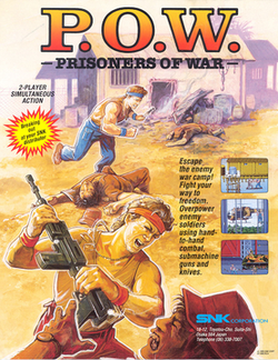 U.S. arcade flyer of P.O.W.: Prisoners of War.