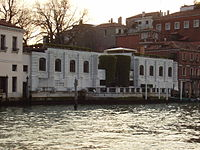 The Peggy Guggenheim museum, as seen from the Grand Canal