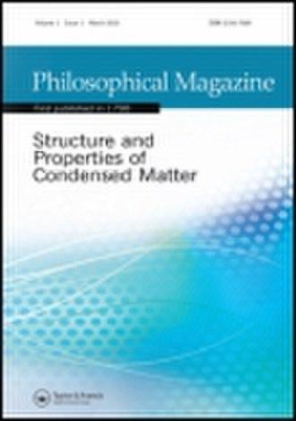 Philosophical Magazine - Image: Philosophical Magazine
