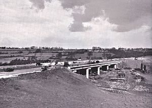 Preston By-pass - The by-pass under construction, 5 December 1958