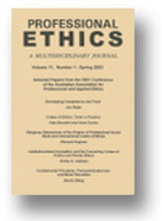 Professional Ethics (journal) - Image: Profethcover