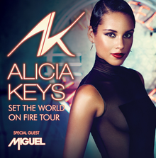 Promotional poster for the 2013 world tour by Alicia Keys.png