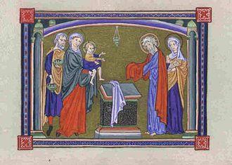 Ingeborg of Denmark, Queen of France - A page from the psalter of Ingeborg of Denmark