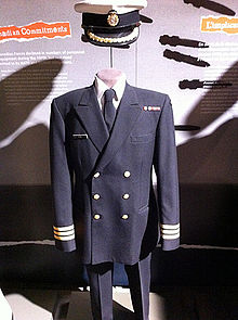 the royal canadian navy service uniform features a peaked cap and ...