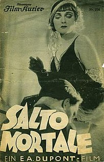 <i>Salto Mortale</i> (1931 German film) 1931 film by Ewald André Dupont