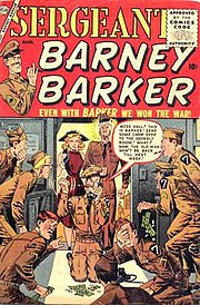 Sergeant Barney Barker #1, cover art by John Severin.