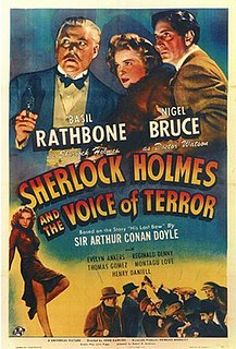 <i>Sherlock Holmes and the Voice of Terror</i> 1942 film by John Rawlins