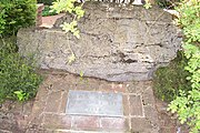 Today, a portion of the limestone outcropping where the Fraternity was founded sits outside its Lexington headquarters.
