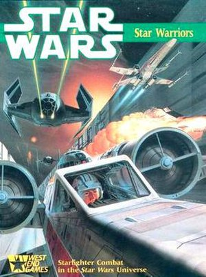 Star Wars: The Roleplaying Game - Star Warriors board game cover (1987, art by Ralph McQuarrie).