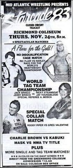 Starrcade (1983) - Official poster used to advertise the event locally.