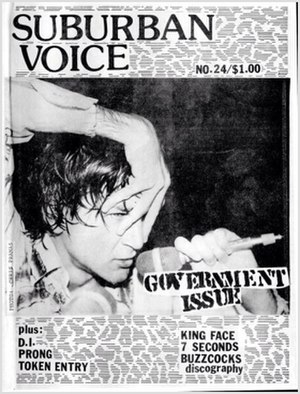 Suburban Voice - 24th issue cover, 1988.