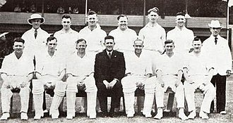 Tasmania cricket team - Tasmania v Indians at Hobart in January 1948.