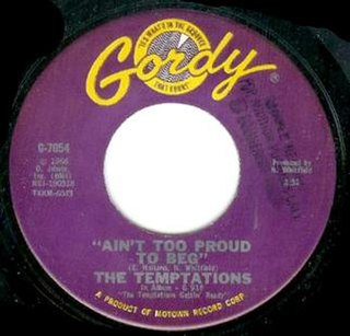 Aint Too Proud to Beg Single by The Temptations