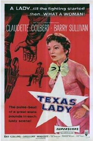 Texas Lady - Original poster