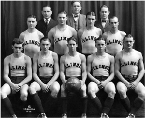 1923–24 Illinois Fighting Illini men's basketball team - Image: The 1923 24 fighting illini basketball team