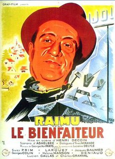 <i>The Benefactor</i> (1942 film) 1942 film by Henri Decoin