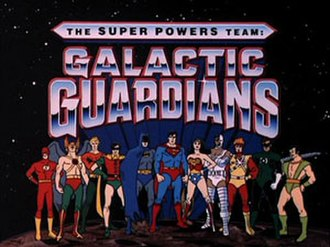 The Super Powers Team: Galactic Guardians - The title card for The Super Powers Team: Galactic Guardians series