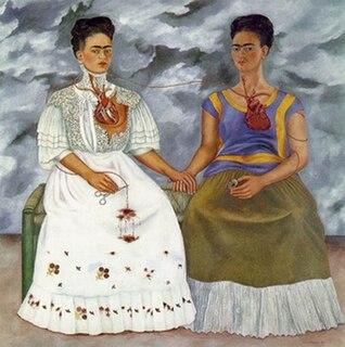 <i>The Two Fridas</i> Painting by Frida Kahlo