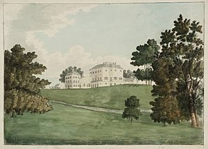 Nuneham House - View of Nuneham Courtenay from the Thames 1787 by J. M. W. Turner, painted when he was either 11 or 12.
