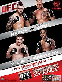 A poster or logo for UFC Live: Hardy vs. Lytle.