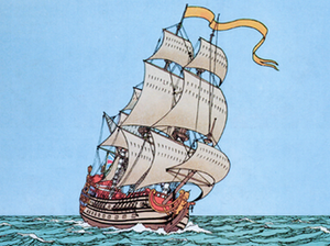 Unicorn (ship) - The Unicorn, from The Secret of the Unicorn, set in 1676