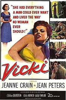 <i>Vicki</i> (film) 1953 film by Harry Horner