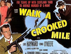 Walk a Crooked Mile - Theatrical release lobby card