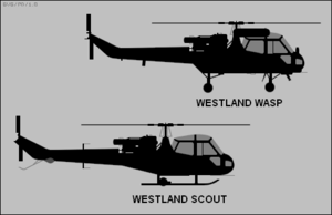 Navalised aircraft - Westland Scout and Wasp silhouettes