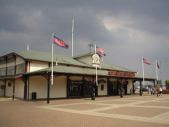 Birkenhead - The Woodside terminal for the Mersey Ferry in Birkenhead