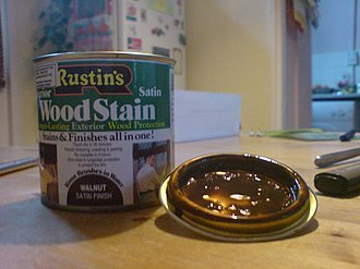 Wood stain - A tin of wood stain