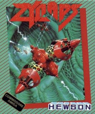 Zynaps - Amiga cover